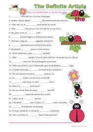 66 free esl definite article worksheets