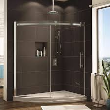 Fleurco Shower Door Fleurco Shower Door Novara Slice Curved Glass Door And Panel