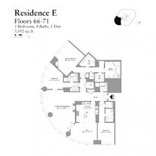 3br 52 71e 1250 house plan trump tower floor plans layouts at n