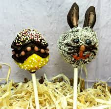Easter Decorated Cake Pops by Decorate Cake Not Eggs Peta