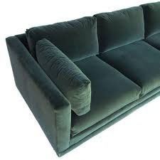 henredon green velvet tuxedo sofa chairish couches pinterest