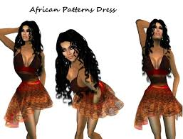 second life marketplace african patterns skirt template