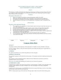 health and safety plan generic