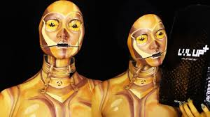 body painting halloween costumes c 3po makeup body paint tutorial youtube