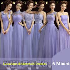 wedding bridesmaid dresses wholesale lavender lace bridesmaid dresses six styles