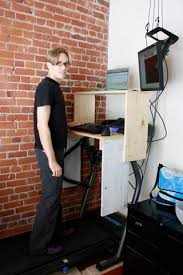 Standing Treadmill Desk by Treadmill Desk 11 Steps With Pictures