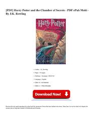harry potter et la chambre des secrets pdf pdf populer harry potter and the chamber page 1 created with