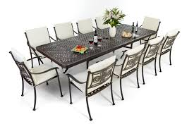 Dining Table And 10 Chairs Hit Extendable Dining Table And 6 Chairs 10 Seat Patio Table Set