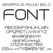 trendy modern elegant bold font alphabet with upper case and