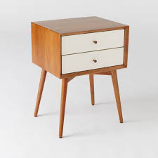 MidCentury Bedside Table White Acorn West Elm Australia - West elm mid century bedroom furniture
