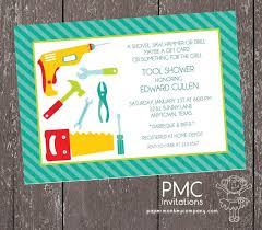 s shower invitations tool shower invitations 1 00 each with envelope