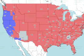 Map New England by New England Patriots At Denver Broncos Cbs Tv Broadcast Map