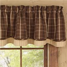 Country Plaid Valances Country Layered Valance Curtains Tanner 72