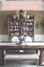blue and white dining room the hamby home