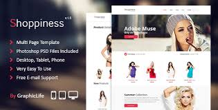 19 best adobe muse ecommerce templates weelii