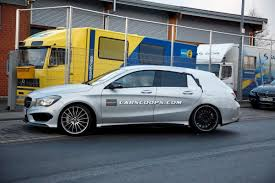 mercedes cla45 amg spied mercedes 45 amg gets roomier with shooting brake
