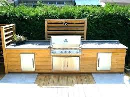 meuble cuisine d été plan de travail exterieur meuble cuisine exterieure bois cuisine