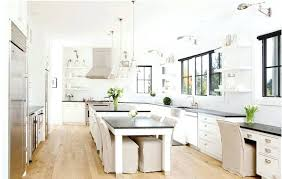 kitchen island with table attached kitchen island inspiration for a large contemporary l shaped eat