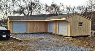 l shaped garage plans pine board batten garages rustic garages horizon structures