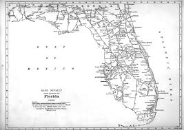 Map Of Florida And Georgia by P Fmsig 1948 U S Railroad Atlas