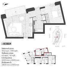 1 bedroom flat for sale in 2nd floor london city island montagu