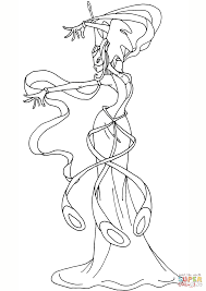 winx club daphne coloring page free printable coloring pages