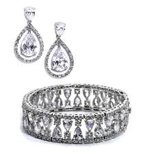 earrings bracelet sets images Regan elegant bridal earring and bracelet set jpg