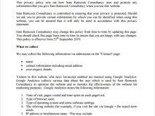 email privacy policy template free resume