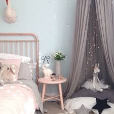 Pink And Grey Girls Bedroom Another Stunning Copper And Pink Girls Room Gorgeous Copper Bed