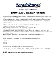 bmw 335d service manual bmw 335d repair manual 2009 2011