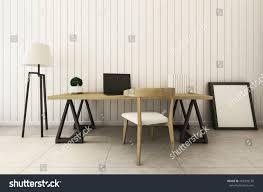 workingroom interior design modern loft 3d stock illustration