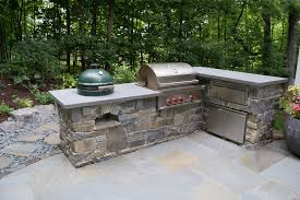 Green Egg Kitchen - green egg outdoor patio eclectic with green egg custom built