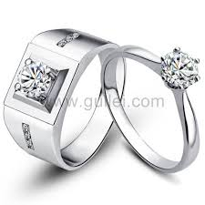 silver wedding rings engravable 0 78 carat synthetic diamond silver wedding rings for