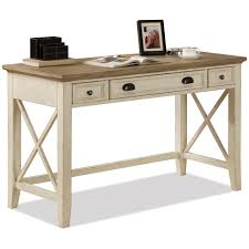 credenza computer desk riverside furniture coventry two tone 32520 writing desk with 3