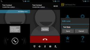 call android contacts notes during calls with call notes