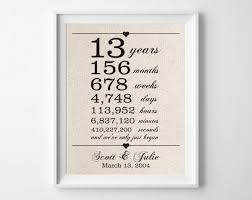 13th anniversary gift 13 years together 13th anniversary gift for husband