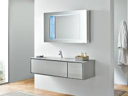 Thin Vanity Table Floating Narrow Vanity Table From Stainless Steel Mixed Concrete