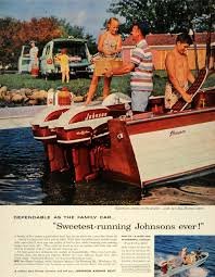 1957 ad johnson sea horses astern motor boats golden javelin