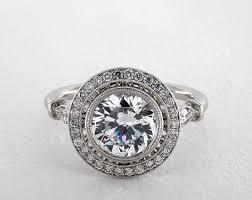 milgrain engagement ring milgrain accented pave halo engagement ring 14k white gold