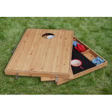 bean bag toss u0026 3 hole washer toss outdoor games set