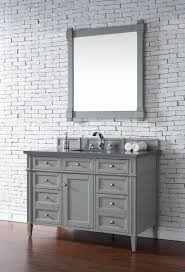 Bathroom Vanities With Top by Contemporary 48 Inch Single Bathroom Vanity Gray Finish No Top