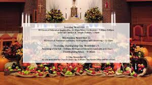 thanksgiving week schedule st matthew church