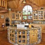kitchen rustic cabin kitchens log cabin kitchen with stone and