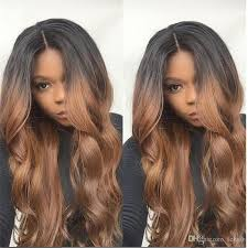 ombre hair color fro african american women 1b 30 two tone virgin brazilian glueless full lace ombre wigs for