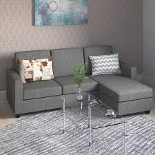 tremont rowley grey convertible sectional free shipping on