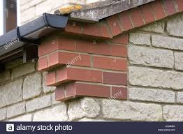 Corbelled Brick Corbelling Or Brickwork Corbels At Gable Corners Of House