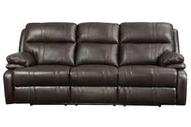 Chenille Reclining Sofa by Houston Leather Power Reclining Sofa