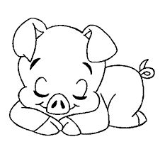 Cute Pig Coloring Pages To Print Animal Coloring Pages Of Pig Coloring Pages