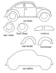 felt crafts free patterns free vw bug craft template crafting