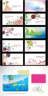 business cards design templates vector free stock vector art